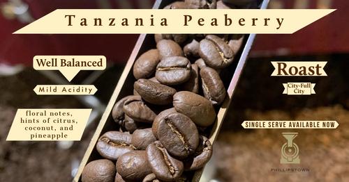 Tanzania Peaberry single serve 10 count bag