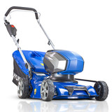 Hyundai HYM40LI420P 40V Lithium-Ion Cordless Battery Powered Roller Lawn Mower 41.5cm Cutting Width With Battery & Charger (40v and 60v Garden Machinery)