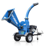 Petrol woodchipper with tow