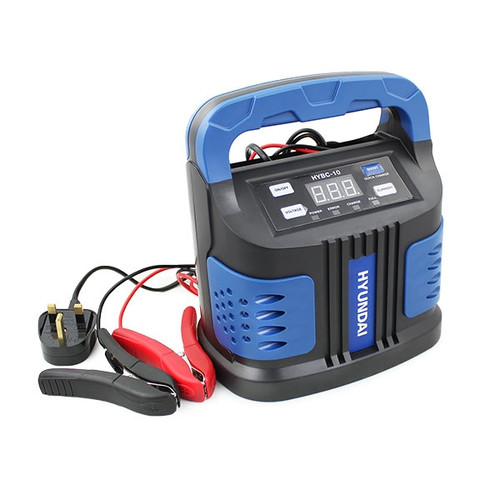 Hyundai HYBC-10 220V Battery Charger with Boost Fast Charge Mode