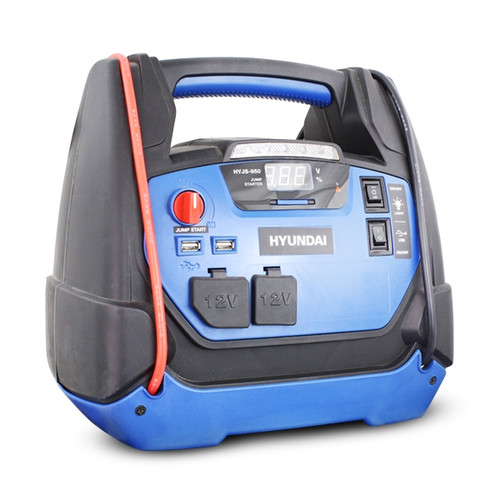 Hyundai HYJS-950 12v All In One Jump Starter With Air Compressor, LED Light and USB Charging (Jump Starter)