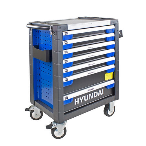 Hyundai HYTC9003 305 Piece 7 Drawer Castor Mounted Roller Tool Chest Cabinet