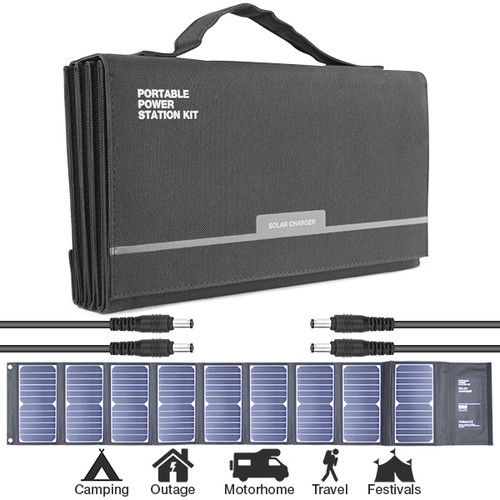 Hyundai H60 60W Portable & Foldable Solar Charger With USB & DC Connectivity (Solar Charger)