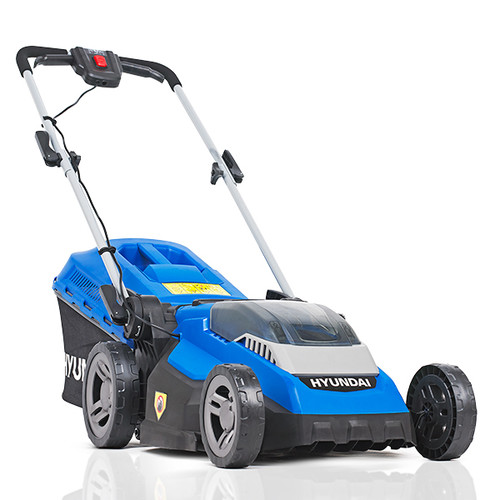 Hyundai HYM40LI380P 40V Lithium-Ion Cordless Battery Powered Roller Lawn Mower 38cm Cutting Width With Battery & Charger (40v and 60v Garden Machinery)