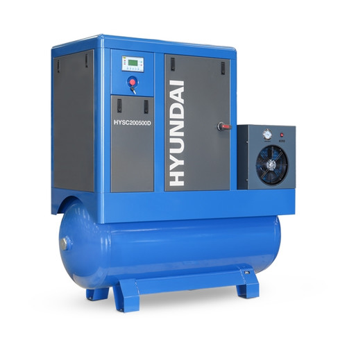 Hyundai 20hp 500 Litre, Industrial Screw Compressor with Dryer