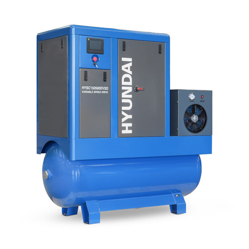 Hyundai 15hp 500L Permanent Magnet Screw Air Compressor with Dryer and Variable Speed Drive | HYSC150500DVSD