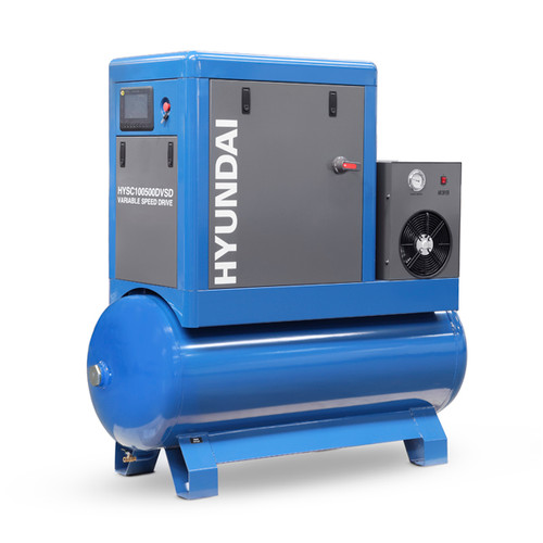 Hyundai 10hp 500L Permanent Magnet Screw Air Compressor with Dryer and Variable Speed Drive | HYSC100500DVSD
