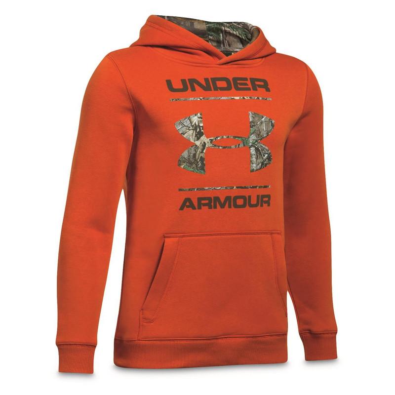3beb100e UA Boy Camo Fill Logo Hoodie - Westside Stores