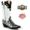 Black Jack Black and White Python Boots