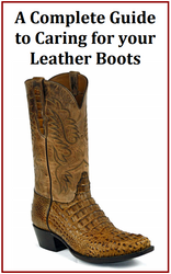 Protect your investment!  35 Page Boot Care Book now available for free!  & $25 discount coupon code