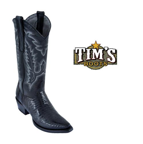 Los Altos Boots Womens Teju Lizard Snip-Toe Boots