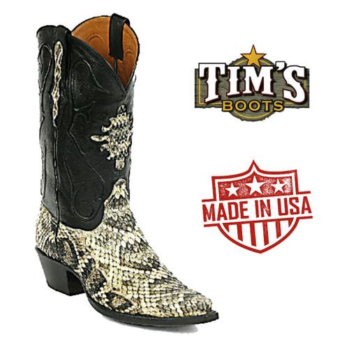 Black Jack Boots Black Jack Diamondback Rattlesnake Boots - Made in the USA