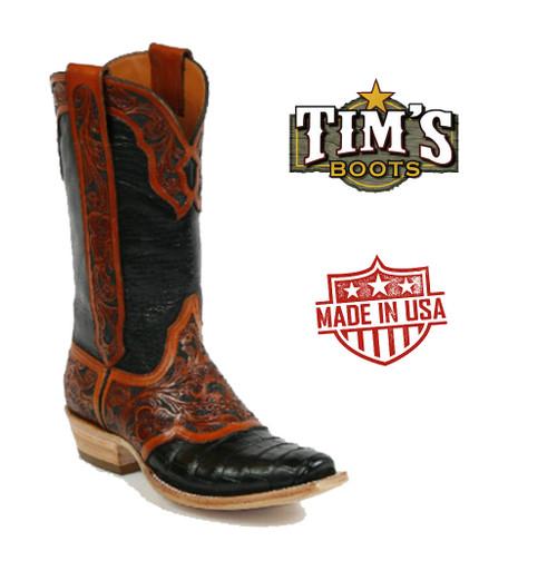Black Jack Boots Black Jack Hand Tooled Cowboy Boots HT121