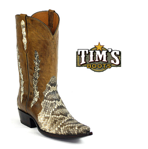 Black Jack Boots Rattlesnake Cowboy Boots Triad Design by Black Jack