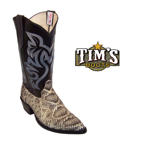 Cowtown Boots Cowtown Diamond Back Rattlesnake Boots - J toe