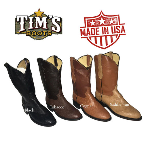 Cowtown Boots Cowtown Smooth Ostrich Roper Boots