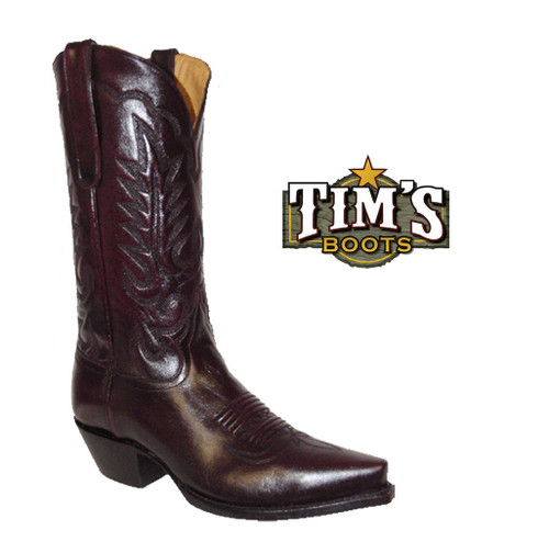 Star Boots Star Black Cherry Reata Cowgirl Boots