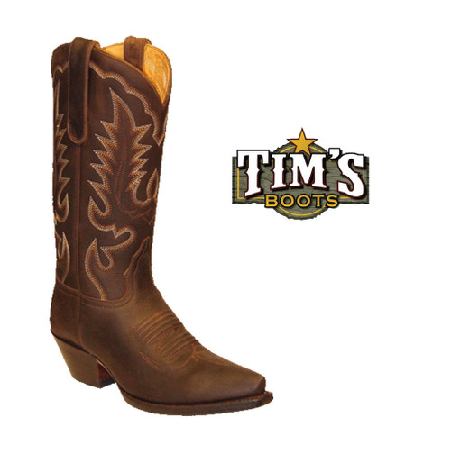 Star Boots Brown Crazy Horse Cowboy Boots