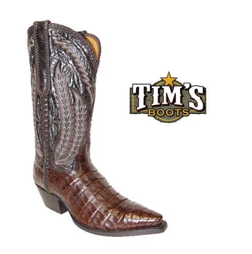 Star Boots Plonge Caiman Crocodile Belly Cowboy Boots