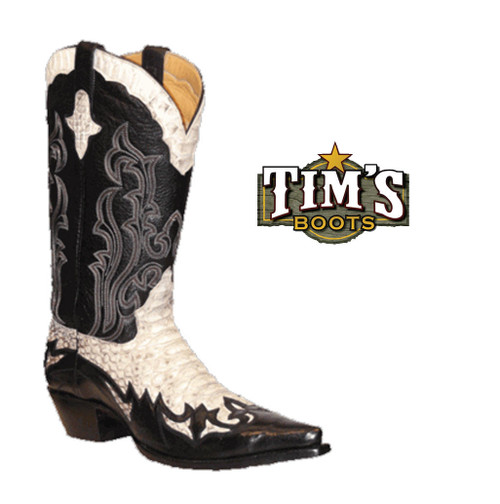 Star Boots Python Boots w/ Wingtip and Collar