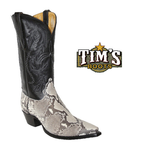 Star Boots Star Boots Natural Belly Cut Python Boots