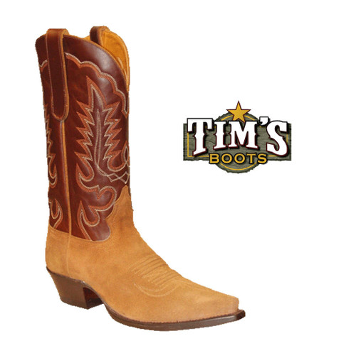 Star Boots Star Boots Tan Suede Cowboy Boots