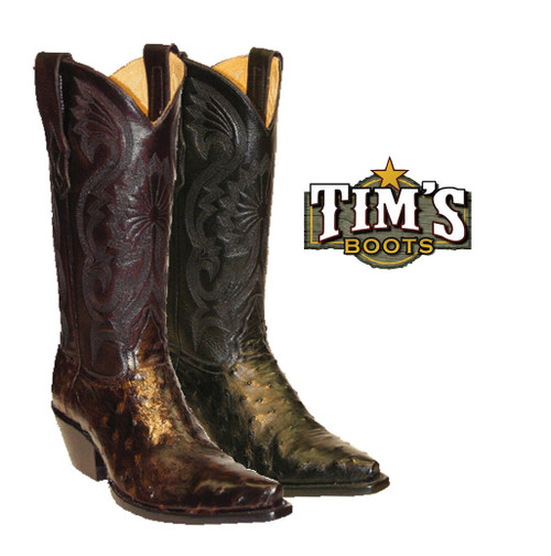 Star Boots Star Boots Womens Full Quill Ostrich Boots