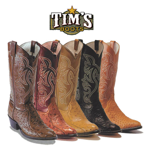 Cowtown Boots Cowtown 3 Piece Ostrich Cowboy Boots