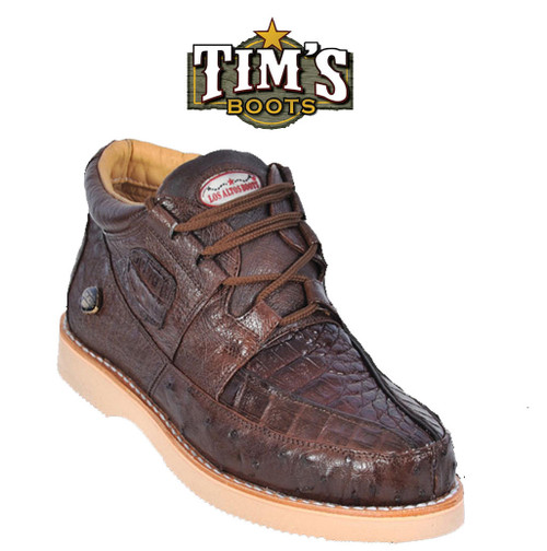 Caiman and Ostrich Casual Shoes