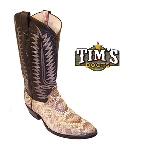 Cowtown Boots Cowtown Diamond Back Rattlesnake Boots - W Toe