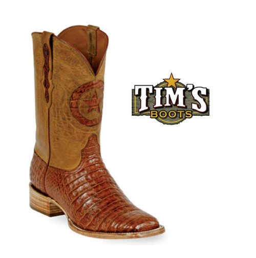 Black Jack Boots Caiman Boots Belly Cut by Black Jack