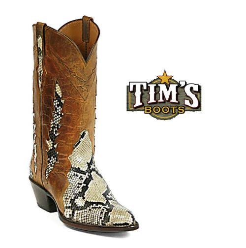 Black Jack Boots Python Cowboy Boots Triad Belly Cut