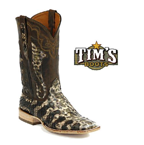 Black Jack Boots Python Boots - Beige/Brown