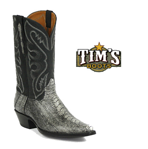 Black Jack Boots Ostrich Leg Cowboy Boots w/ Kangaroo Upper