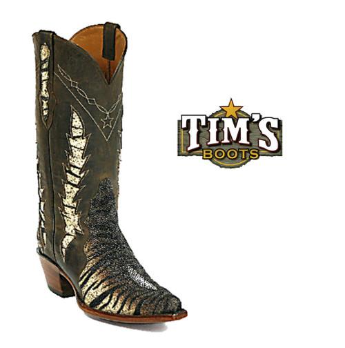 Black Jack Boots Tiger Brown Stingray Boots Triad