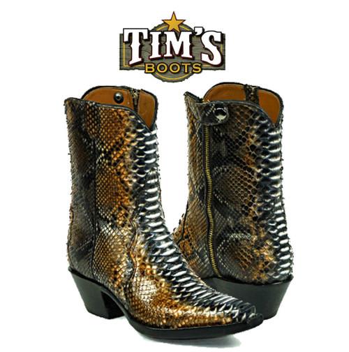 Black Jack Boots Python Zipper Boots from Black Jack