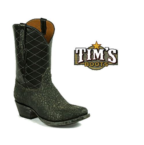 Black Jack Boots Elephant Cowboy Boots w/ Diamond Stitch upper