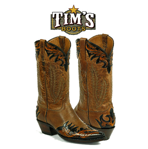 Black Jack Boots Hand Tooled Boots - Style HT82