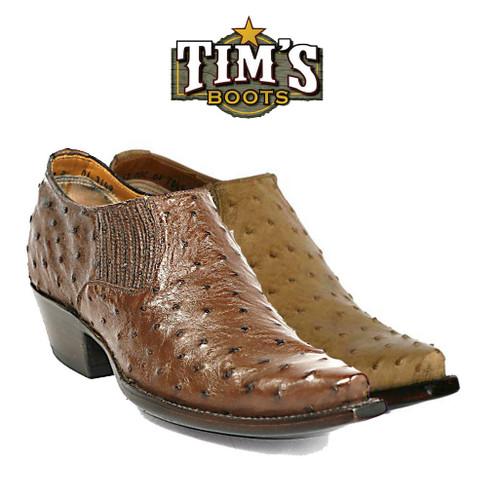Black Jack Boots Ostrich Shoe Boots