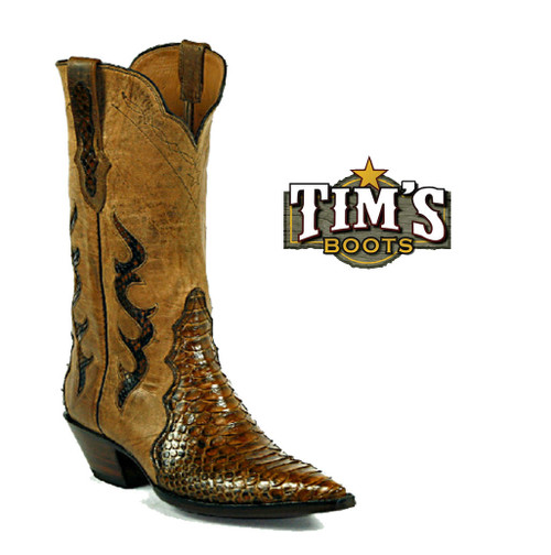 Black Jack Boots Python Cowgirl Boots - Triad