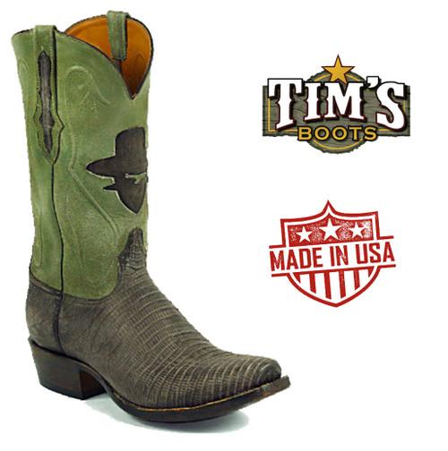 Black Jack Boots Black Jack Sanded Lizard Cowboy Boots Bandido