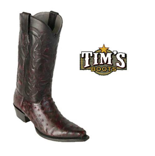 Los Altos Boots Los Altos Ostrich Cowboy Boots - snip toe