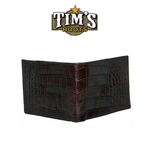 Tims Boots Brown Alligator Belly Wallet