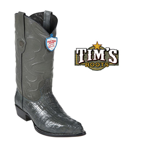 Wild West Boots Wild West Caiman Boots -J Toe, Tail