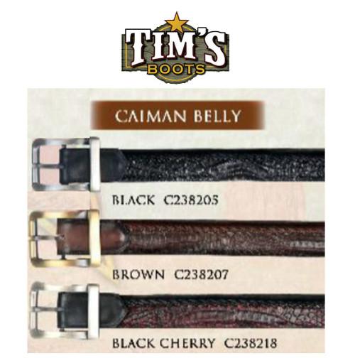 Los Altos Boots Caiman Belt - Belly