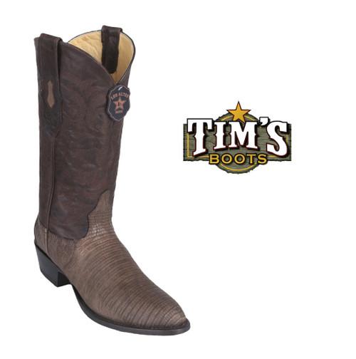 Los Altos Boots Teju Lizard Cowboy Boots Round Toe