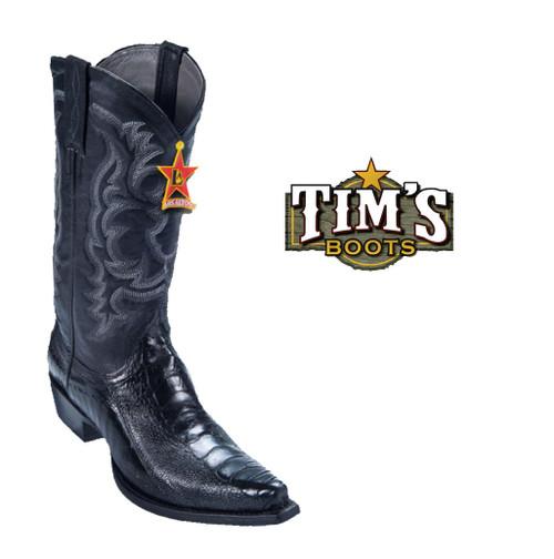 Los Altos Boots Ostrich Leg Cowboy Boots Snip Toe