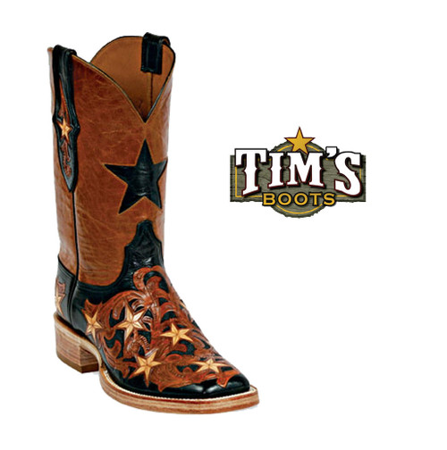 Black Jack Boots Hand Tooled Boots - Style HT16