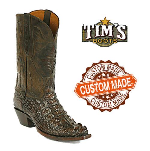 Black Jack Custom Custom Alligator Cowboy Boots head cut