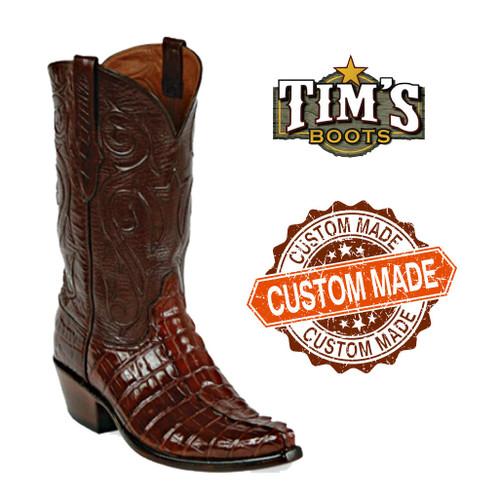 Black Jack Boots Black Jack American Alligator Cowboy Boots - Tail Cut